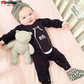 New 2017 Fashion Black Baby Rompers Baby Boy Clothes Long Sleeves O-neck Newborn Cotton Baby Girl Clothing Infant Jumpsuit
