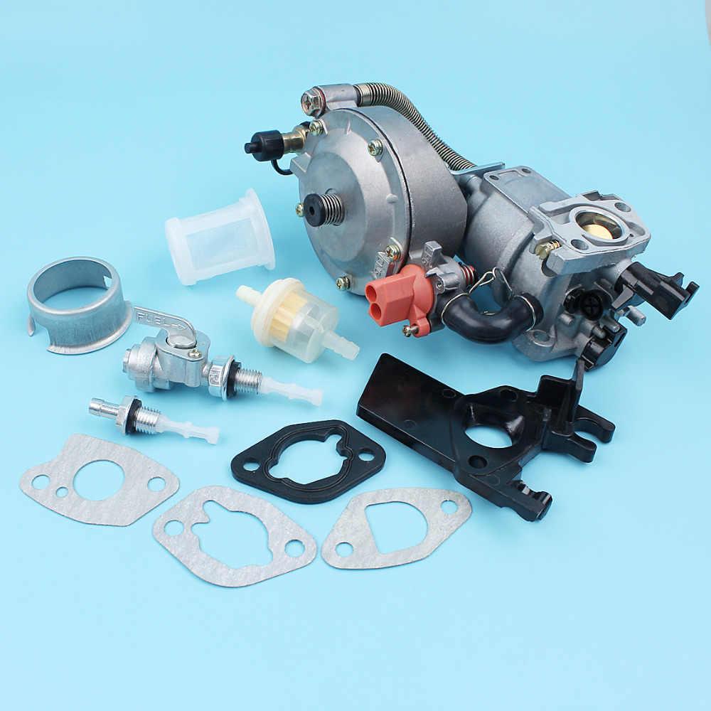 المكربن LPG/CNG المزدوج مجموعة تحويل الوقود لهوندا GX200 170F GX160 168F 2KW-3KW مولد مضخة مياه المحرك المحرك