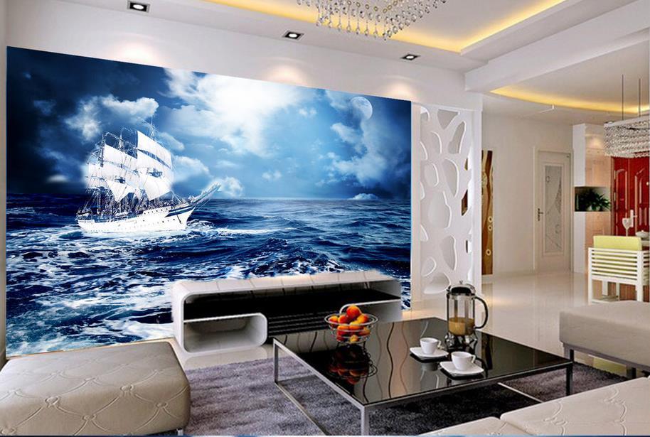 Anpassen luxus tapete meerblick 3d wandbilder wallpaper home decor ...