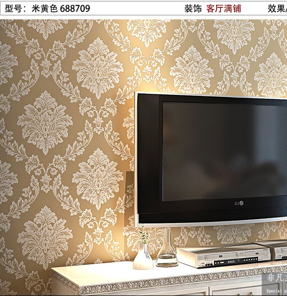 10m*53cm Europe type restoring ancient ways non-woven flocking in wallpaper The bedroom living room TV setting wall paper new household decorates nostalgic american country pure paper wallpaper restoring ancient ways brush paint process living room