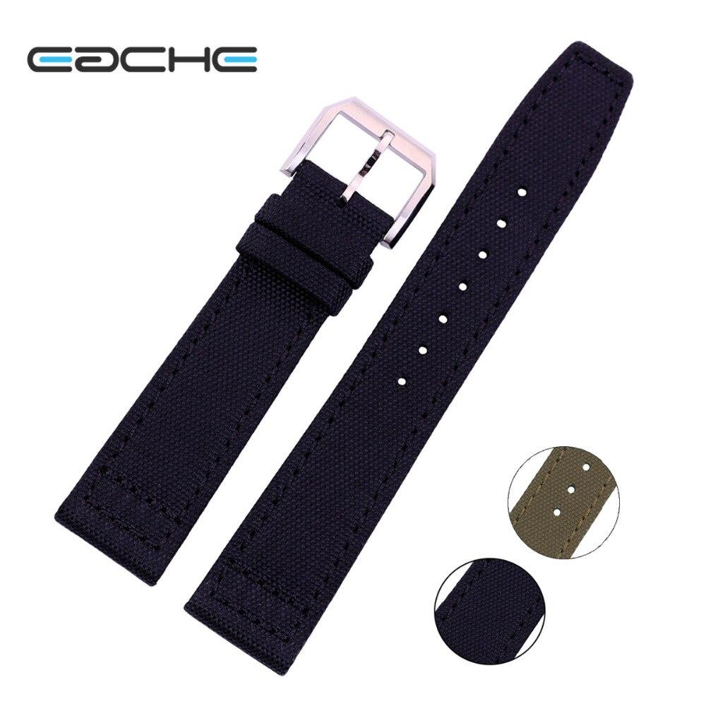 Популярный кожаный ремешок для часов для мужчин, 20 мм, 21 мм, 22 мм, армейский зеленый, черный
