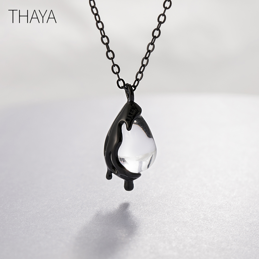 Thaya 40cm No Longer Sorrow Necklace Handmade White Crystal 925 sterling silver Scale Light Necklace for Women Girl Jewelry GiftThaya 40cm No Longer Sorrow Necklace Handmade White Crystal 925 sterling silver Scale Light Necklace for Women Girl Jewelry Gift