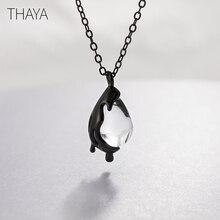 Thaya 40cm plus de chagrin collier à la main en cristal blanc 925 en argent sterling échelle lumière collier pour femmes fille bijoux cadeau