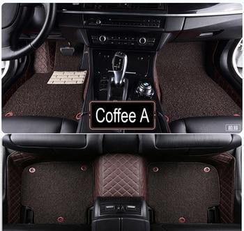Car floor mats made for Toyota Highlander Land Cruiser 200 5D full cover car styling rugs carpet case liners (2007-)