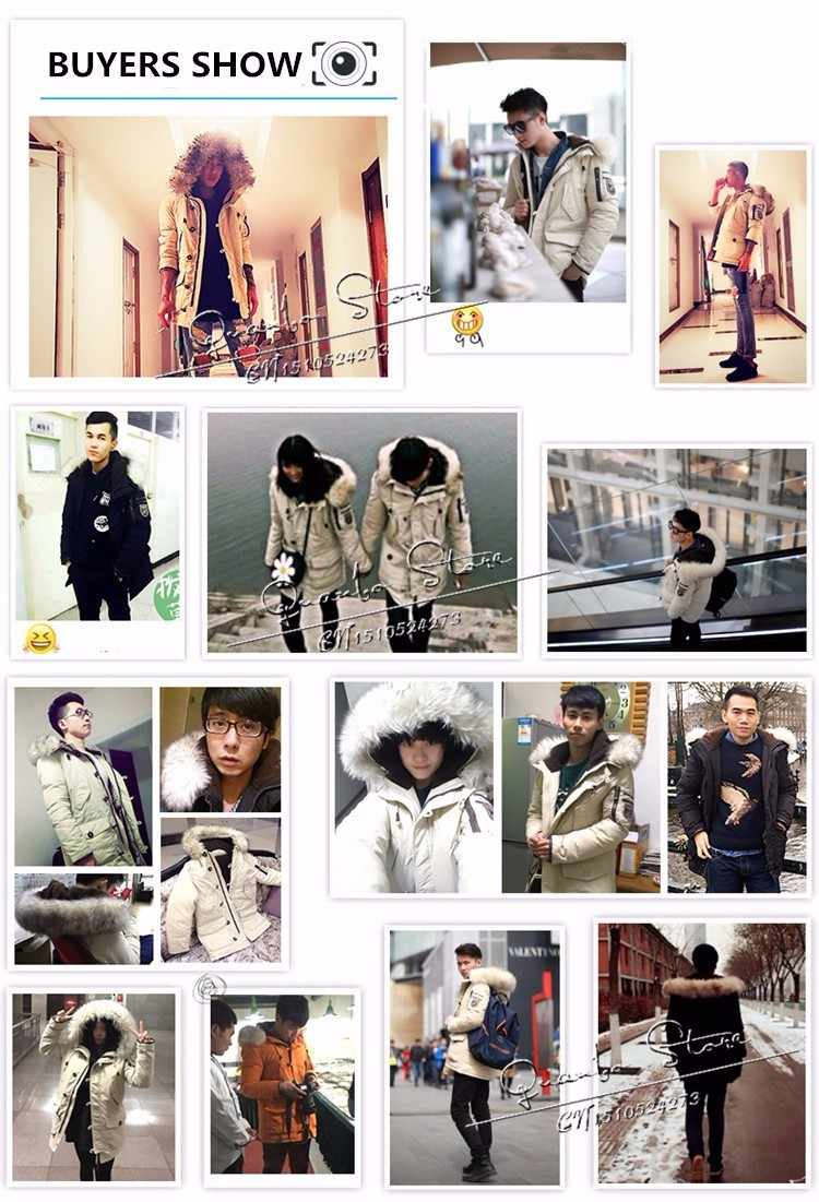 2019 новая брендовая одежда куртки толстые теплые мужские пуховики высокое качество меховой воротник с капюшоном пуховик мужское зимнее пальто