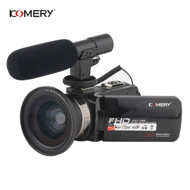 Câmera de Vídeo 16X Z9 KOMERY Nightshot Apoio Câmera Digital E Tela Sensível Ao Toque HD 1080 P Câmera de Vídeo WI-FI 3.0 Polegada
