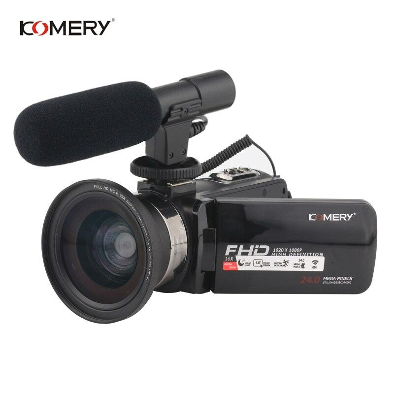 KOMERY Z9 Video Macchina Fotografica 16X Fotocamera Digitale Supporto Nightshot E WIFI Touch Screen Da 3.0 Pollici 1080 P HD Video Macchina Fotografica