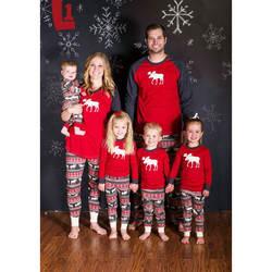 Семейные комплекты Moose Фея Семейные рождественские пижамы комплект для взрослых детская одежда для сна пижамы для мамы и дочери