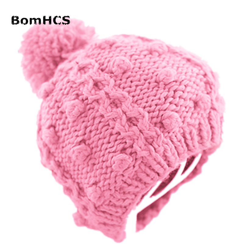 BomHCS 13 COLORS Cute Women's Winter Warm Beanie 100% Handmade Knitted Hat Caps kemei km 329 professional hair straightener tourmaline ceramic heating plate electric hair straightener iron styling tools