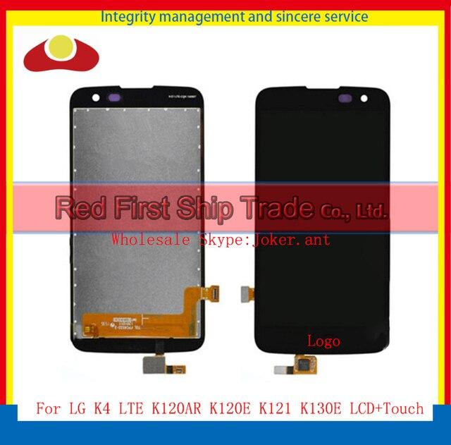 """Alta Qualidade 4.5 """"para lg k4 lte k120ar k120e k120 k121 k130e k130 completa lcd screen display toque digitador assembléia completa"""