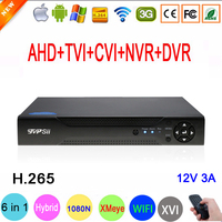 1080P/960P/720P/960H CCTV Camera XMeye Hi3521D H.265 16 Channel 16CH 1080N 6 in 1 Hybrid Wifi TVi CVI NVR AHD DVR Video Recorder