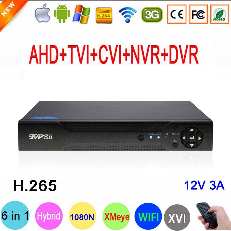1080P/960P/720P CCTV Camera XMeye Hi3521D H.265+ 16 Channel 16CH 1080N 6 In 1 Hybrid Wifi TVi CVI NVR AHD DVR Video Recorder