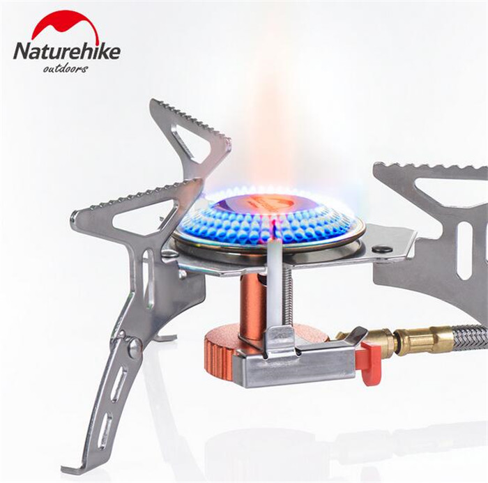 Naturehike Outdoor Gas Stove Camping Portable Split Folding Backpacking Cookware