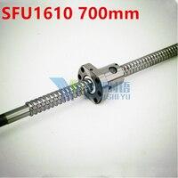SFU1610 700มิลลิเมตร16มิลลิเมตรบอลสกรูSFU1610ความยาว700มิลลิเมตรบวก1ชิ้นRM1610 1610 Ballnut CNC DIYแกะสลักเครื่องBK/BF12กลึง