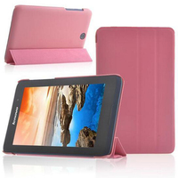 Luxury Ultra Slim Magnetic Folio Stand Holder PU Leather Case Cover For Lenovo Idea Tab A3500