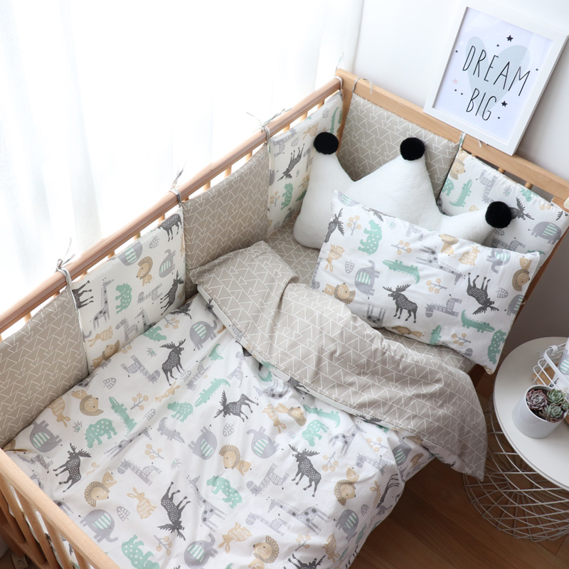 Baby Bedding Set Nordic Cotton Woven Baby Bed Linen For Newborns Kids Crib Bedding For Boy Girl Provide Personal Custom MakeBaby Bedding Set Nordic Cotton Woven Baby Bed Linen For Newborns Kids Crib Bedding For Boy Girl Provide Personal Custom Make