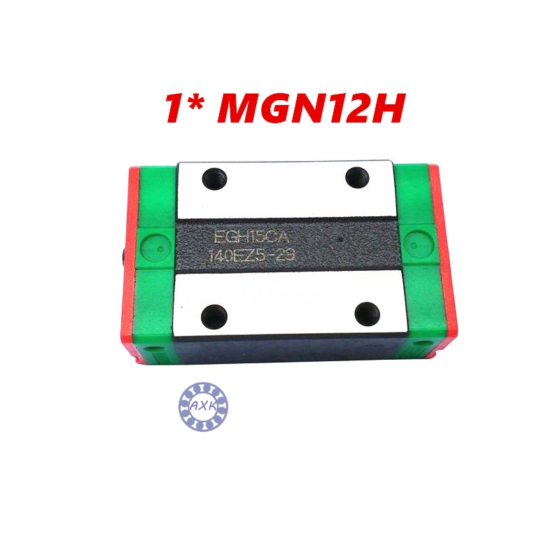 Free shipping MGN12H block for MGN12 12mm Linear Guide  12mm linear rail way Long linear carriage for CNC X Y Z Axis axk mr12 miniature linear guide mgn12 long 400mm with a mgn12h length block for cnc parts free shipping