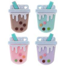 Силиконовые Бусины DIY прорезывания зубов детский Прорезыватель молочный уход за полостью рта для жевания и кусания новорожденный безопасный пищевой Клас ремесла кулон цепочки и ожерелья Dec17
