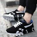 2016 Sapatos Masculinos De Couro Camurça Primavera Outono Malha Homens Sapatos Casuais Moda Masculina Sapatos Flats Calçado Respirável