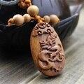 1 unid Buena Fortuna Dragón de Madera Tallada Llavero, Coche/Bolsa/Monedero, Llavero, Llavero, Amuleto colgante De Madera Accesorios llaveros porte clef