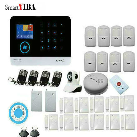 Smart YIBA IOS Android Touch Keyboad Color WiFi GSM Wireiess Home Security font b Alarm b