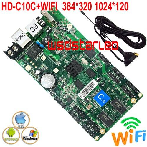 HD C10C WIFI 10 HUB75E Support 1 32 scan USB asynchronous RGB color P2 5 P3