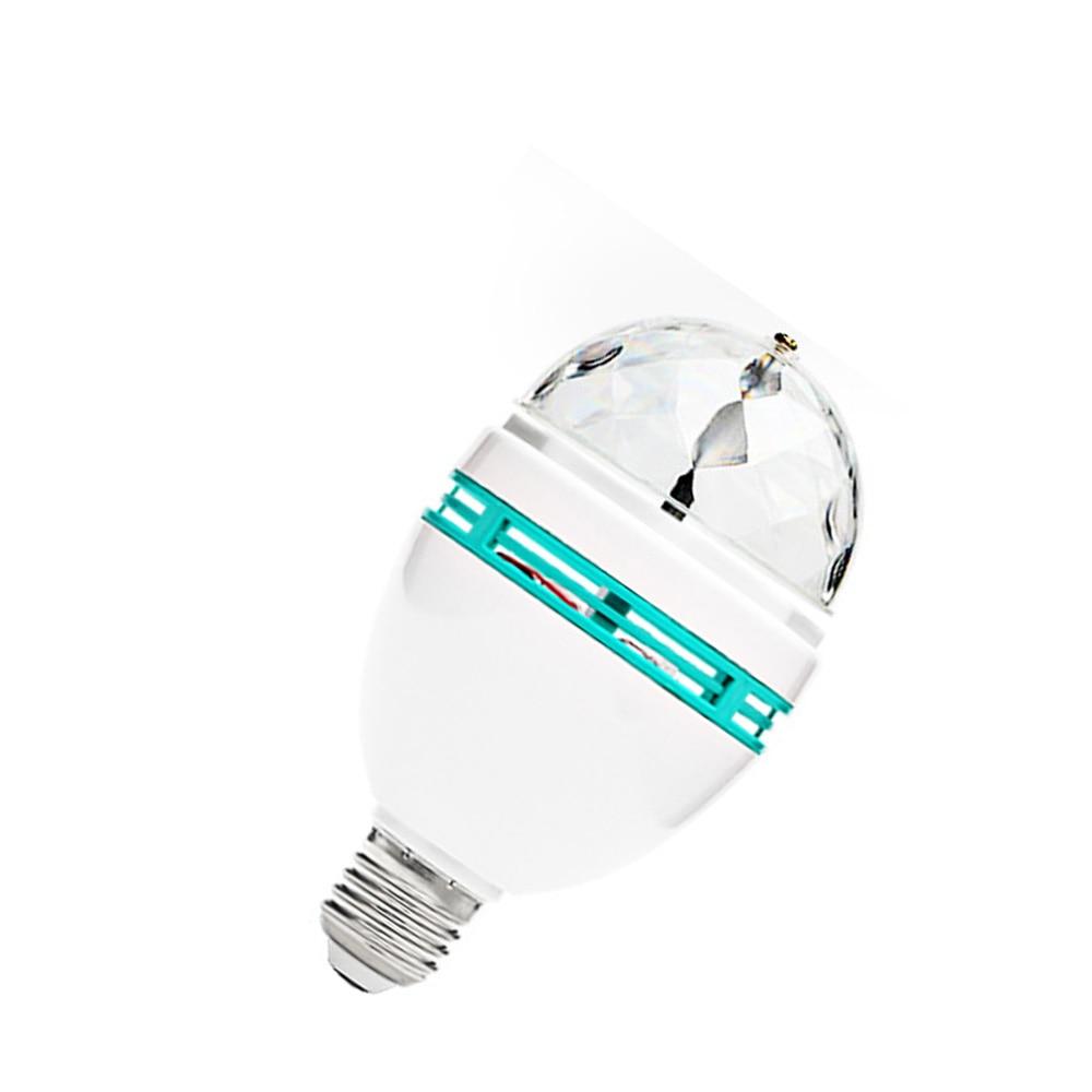 E27 6W RGB Spot light AC220v LED Lamp 360 degree Auto Rotating Stage lights Magic Ball Bulb For Home DJ Party Dance Decoration