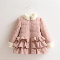 Princess Velvet Inside Warm Girls Winter Jacket Coats Children Outerwear Baby Kids Clothes 2018 T1/4266DBO