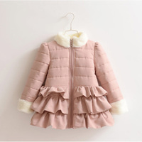 Princess Velvet Inside Warm Girls Winter Jacket Coats Children Outerwear Baby Kids Clothes 2018 T1/4266DBO
