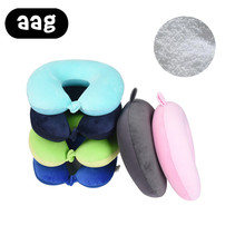 Solid soft foam neck support pillow UShaped Travel Airplane Head Rest neck Protection Cushion Pillow travelaccessories wholesale in stock 2018 xiaomi 8h z2 natural latex elastic soft pillow neck protection cushion