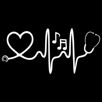 1Pc Stethoscope Music Notes Car Styling Reflective Decorative Stickers Auto Decals Waterproof fade-resistant self-adhesive 2