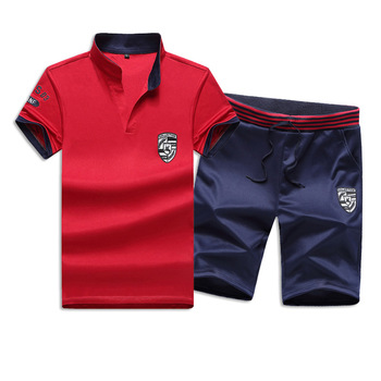 2008 new casual suit summer fashion Korean version handsome upper garment mens short sleeve T-shirt two sets