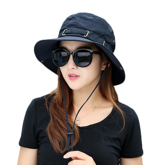 Female Male Summer Fisherman Hat Sun Hats Women Fashion Beach Sun Hat Anti-UV  Sun Protection Bucket Hat Holiday Sun Cap for Girl 2b48f30c5fd