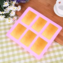 6 Cavities 3D Handmade Rectangle Square Silicone Soap Mold Chocolate Cookies Mould Cake Decorating Baking Equipment Non-toxic