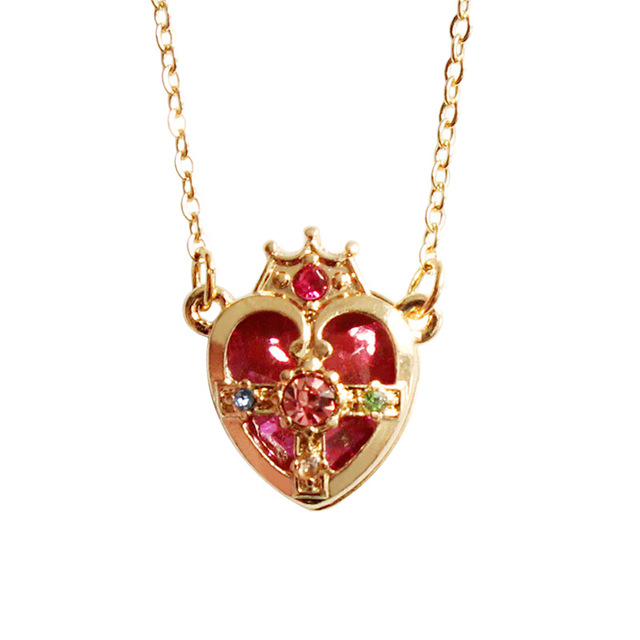 Anime Sailor Moon Ami Regresa Metal Pendant Necklace Cosplay Jewelry Crown heart shaped girls accessories