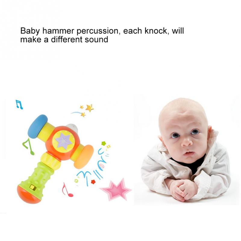 Baby Light Music Hitting Hammer Educational Game Children Hammer Toy