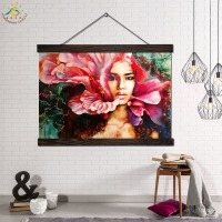 Colorful Flower Woman Modern Wall Art Print Pop Art Picture And Poster Frame Hanging Scroll Canvas Painting Home Decoration