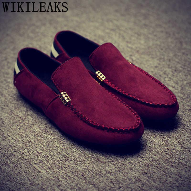 Mocasín zapatos hombres marca de lujo camel zapatos hombres mocasines hombres conducción zapatos chaussure homme zapatillas hombre heren schoenen bona