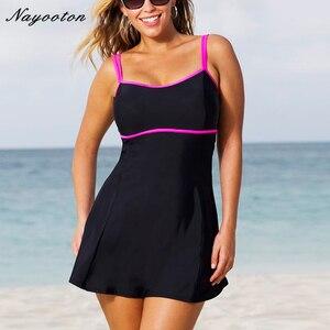 Image 1 - قطعة واحدة ملابس السباحة السباحة تنورة ملابس السباحة حجم كبير ثونغ ثوب السباحة البرازيلي النساء ملابس سباحة رفع Monokini Monokini