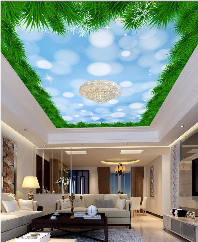 Christmas In Europe Wallpaper.Dream Christmas Ceiling Custom Photo Wallpaper 3d