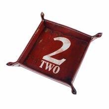 LINKWELL 1 шт. Ретро Красный номер две фигуры буквы слова кожаные мужские из полиуретана Catchall изменить ключ кошелек коробка для монет лоток для хранения