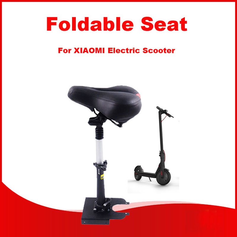 Xiaomi Electric M365 Scooter Seat Foldable Saddle Shock Absorbing Seat Comfortable Folding Chair for Xiaomi Electric Scooter m365 xiaomi electric scooter seat foldable saddle shock absorbing seat comfortable folding chair for xiaomi electric scooter diy