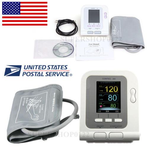 CE-USA-Color-CONTEC08A-Digital-Blood-Pressure-Monitor-Upper-Arm-NIBP-Software contec contec08a ce