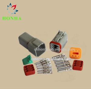 5 шт. комплект 6 Pin водонепроницаемый Электрический провод разъем усиленное уплотнение термоусадочный загрузки адаптер 22-16AWG DT06-6S DT04-6P