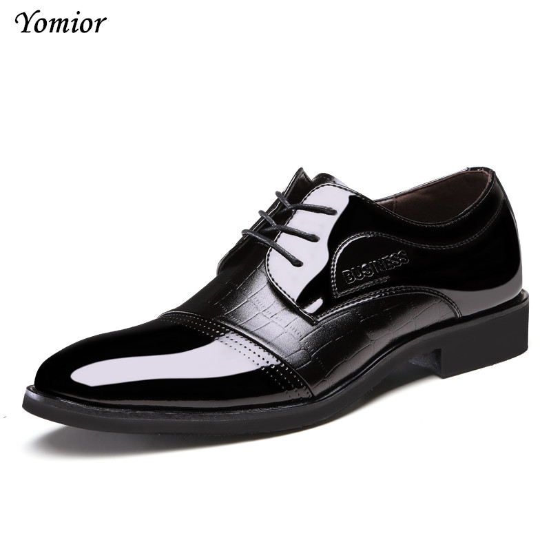 Yomior Brand Handmade Men Shoes High Quality Fashion Leather Oxfords Business Office Dress Zapatos Hombre Masculinos Sapatos