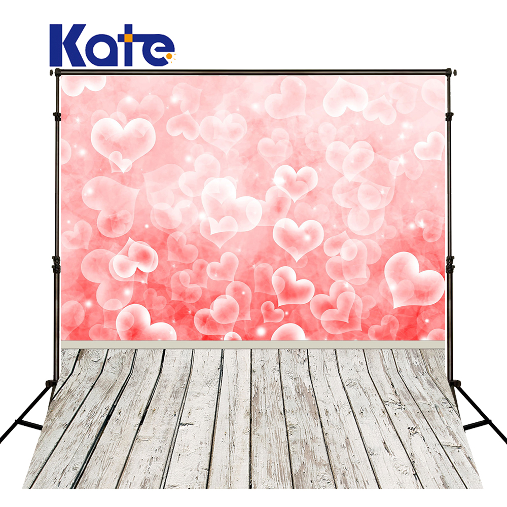 KATE Photography Background Valentines Day Backdrops Love Pink Backdrop Wooden Floor Backdrop Bokeh Glitter Backdrops for Studio bicycle lpv love promise of vow poke valentines day gifts