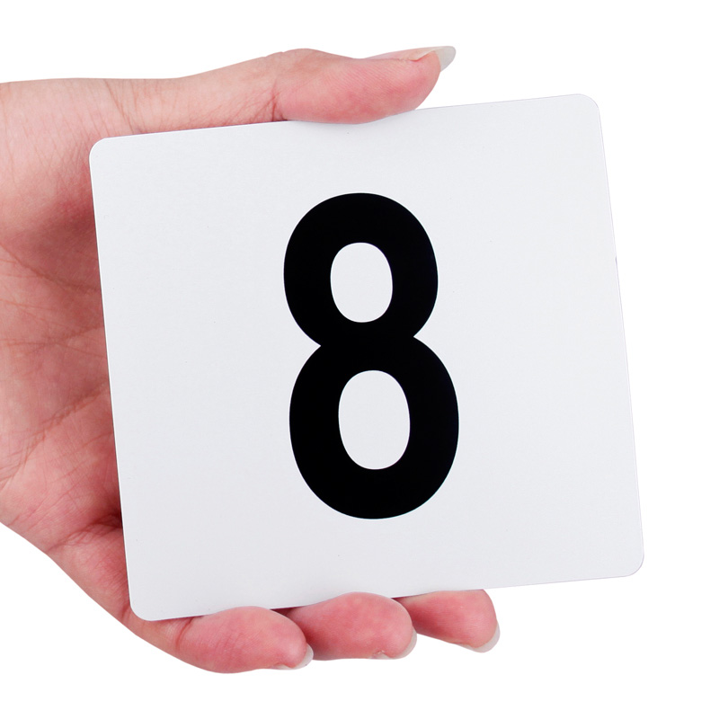 White Plastic Table Marker Number Cards 1-100  Black On White Table Numbers Wedding Restaurant Bar For Banquets Or Poker Tables