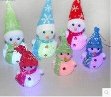 Hoomall Симпатичные Рождественские Куклы Изменение Цвета СВЕТОДИОДНЫЕ Night Light Игрушки Куклы Новогодние Елочные Украшения adornos навидад 2017 Новогодний Подарок