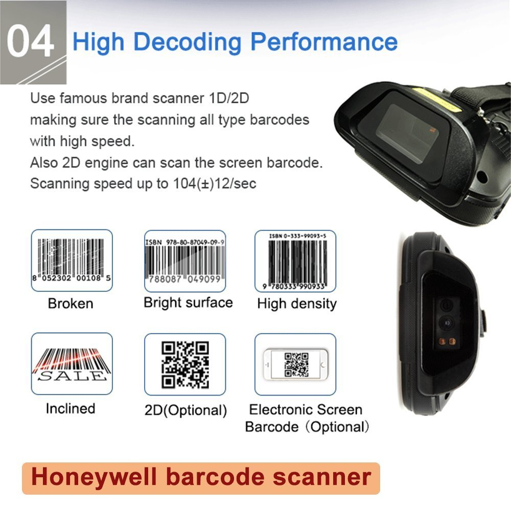 Image 4 - ISSYZONEPOS 4G Handheld PDA Android 7.0 POS Terminal Touch Screen 2D Barcode Scanner Wireless Wifi Bluetooth GPS Barcode Reader-in Scanners from Computer & Office
