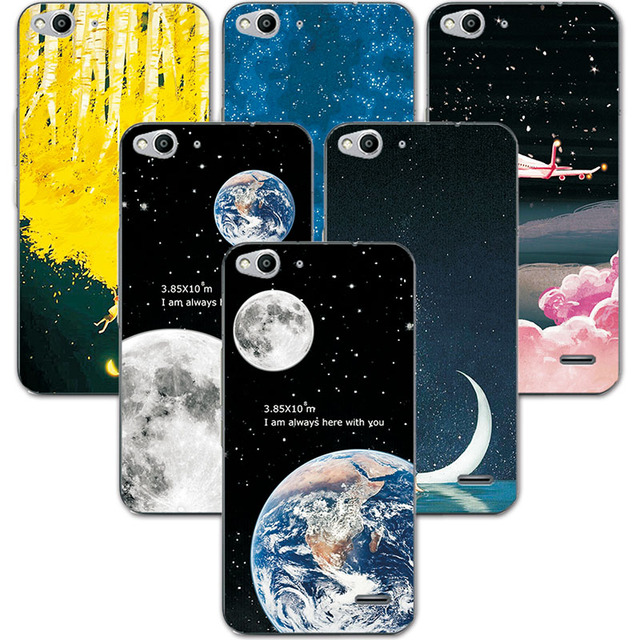 free shipping 1f18e 3680c US $1.1 25% OFF|FOR Vodafone SMART ULTRA 6 995N Couple Phone Case Space  Stars Fantasy Art Print Back Cover For Vodafone SMART ULTRA 6 Case-in  Fitted ...